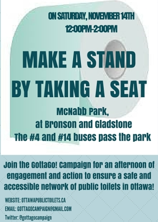 Make a Stand by Taking a Seat