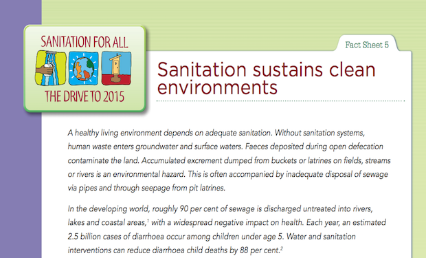 Sanitation sustains clean environments
