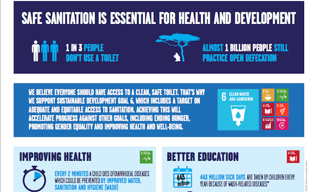 Infographic: Safe sanitation is essential for health and development