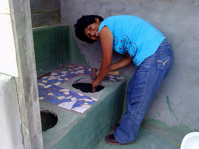 Dry toilets in Lima's slums.