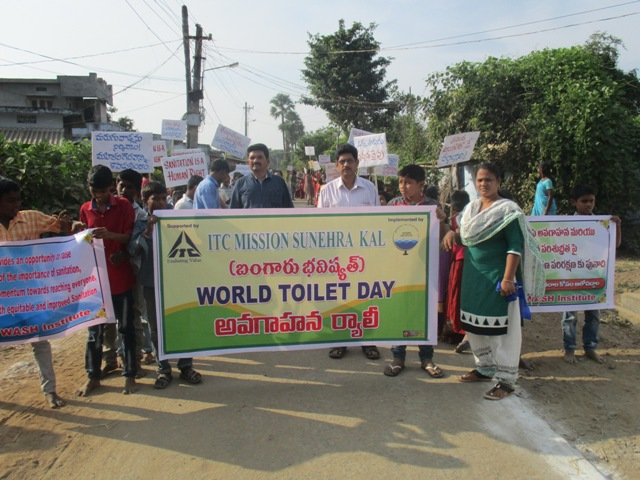 Awreness activities on the occassion of World toilet day on 19.11.2016