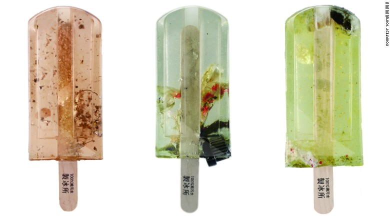 Popsicles made from polluted water